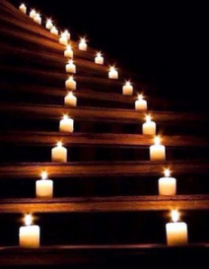 lit staircase