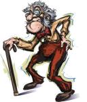 cranky old man I