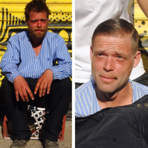 homeless haircuts I